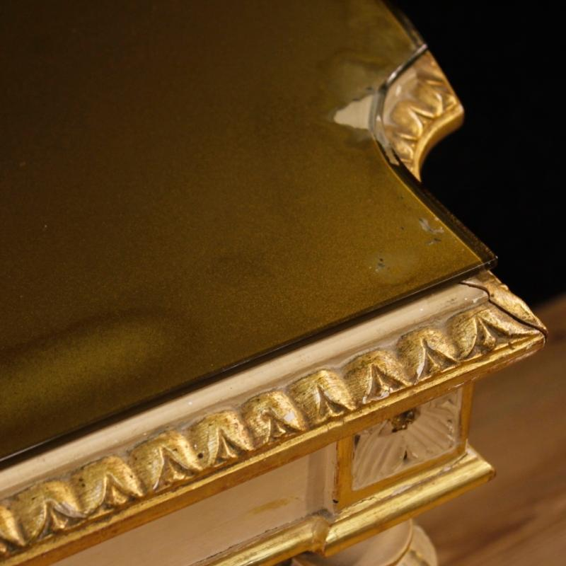 20th Century Italian Lacquered And Gilt Side Table