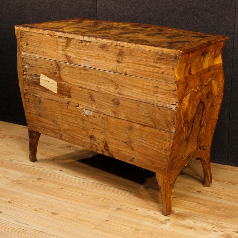 Italian Dresser In Walnut And Burl Wood, 20th Century