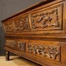 Antique Italian Kitchen Cupboard In Walnut Wood From 18th Century