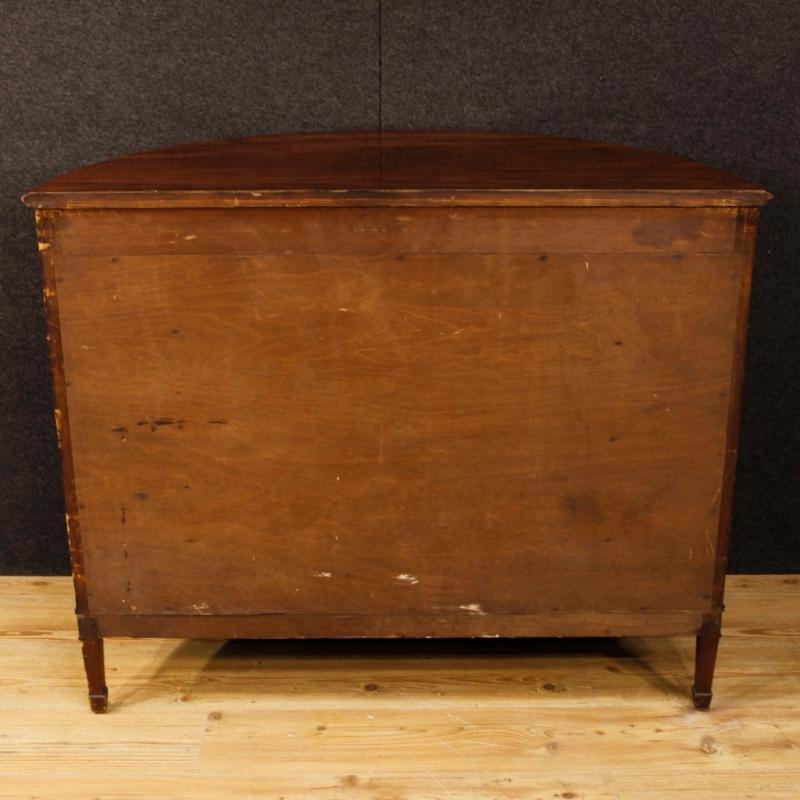 English Demilune Sideboard In Mahogany Wood From 20th Century