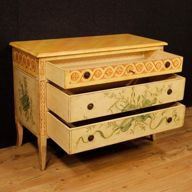 French Dresser In Lacquered and Painted Wood In Louis XVI Style 20th Century