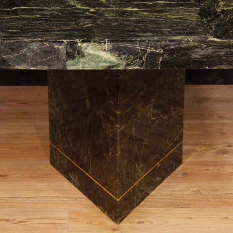 Muller Of Mexico Dining Table In Marble, Wood, Metal From 20th Century