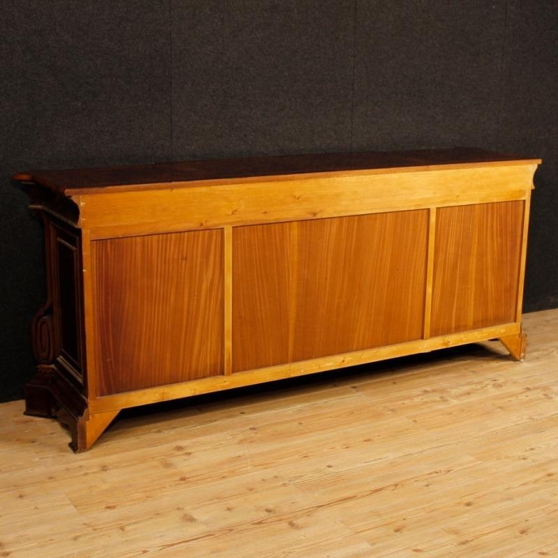 Italian Sideboard In Inlaid Wood With 4 Doors From 20th Century
