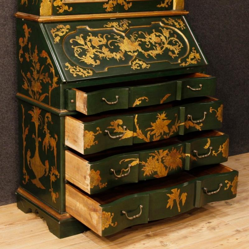 Venetian Trumeau In Lacquered And Gilt Wood From 20th Century
