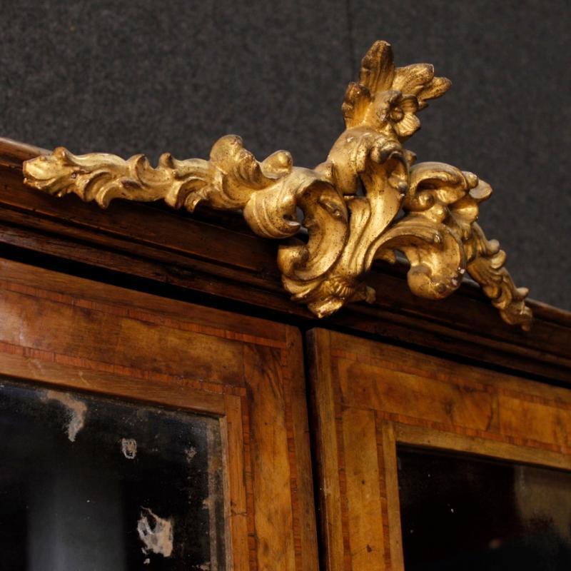 Italian Trumeau Louis XVI In Rosewood, Walnut, Burl Walnut From 18th Century