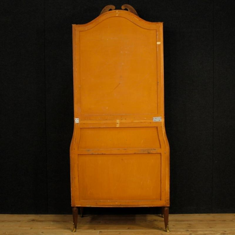 Italian Trumeau In Walnut And Burl Walnut With Mirror From 20th Century