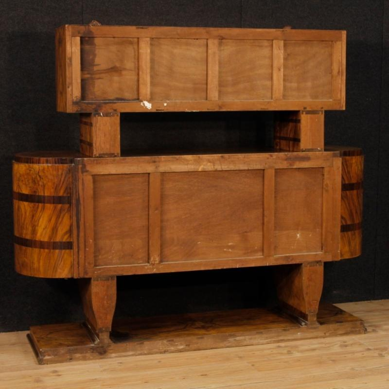 Italian Sideboard In Inlaid Wood In Art Deco Style From 20th Century