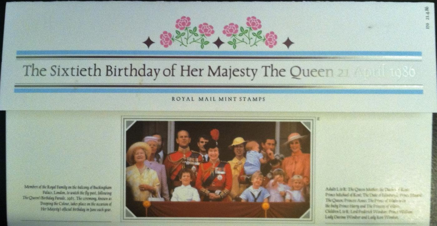 1986 ROYAL MAIL MINT STAMPS SET~60th BIRTHDAY THE QUEEN