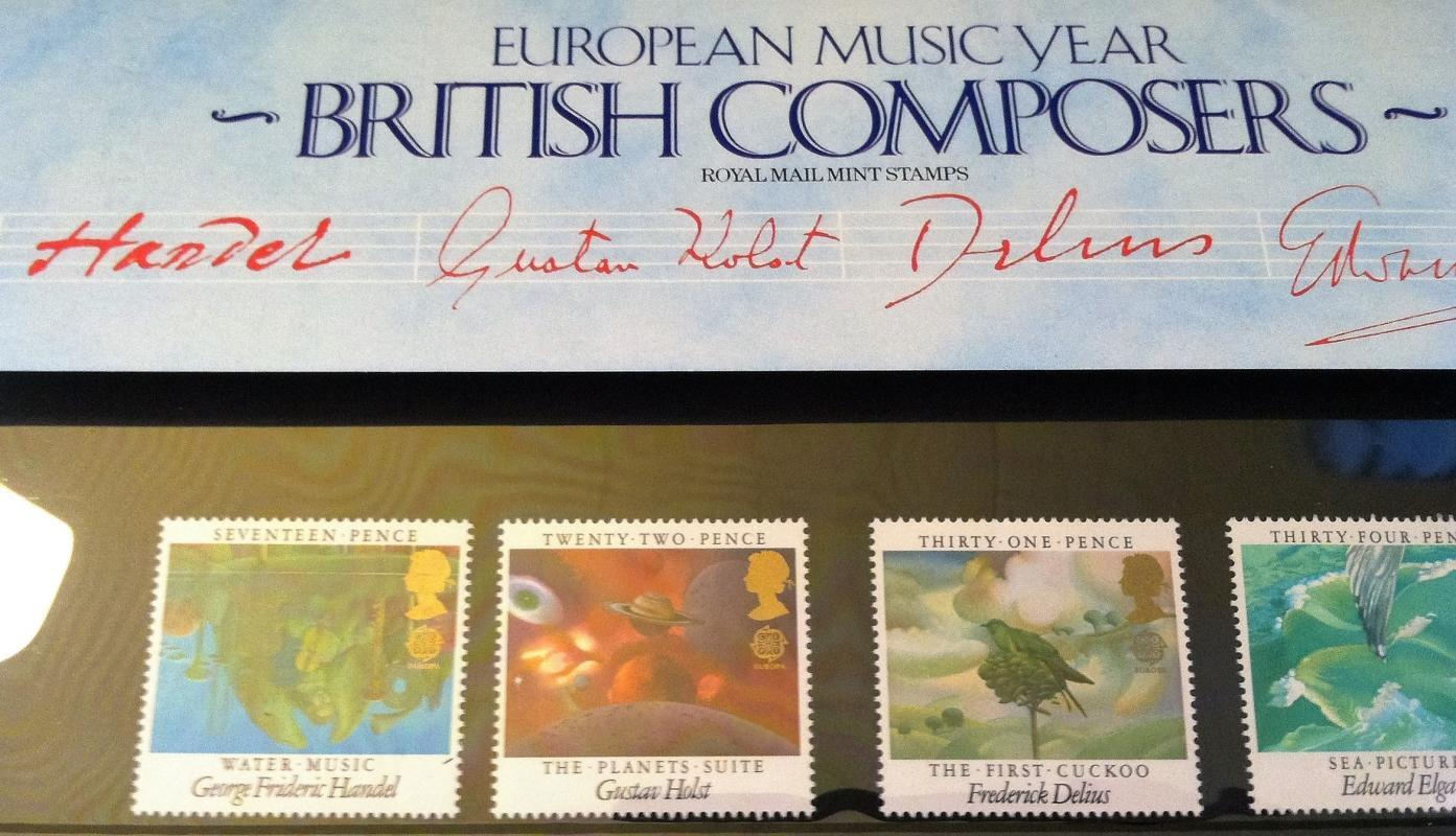 1985 ROYAL MAIL MINT STAMPS SET~BRITISH COMPOSERS~UNUSE
