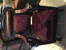 Victorian Hand Carved chair/rocker/glider dating ca 1860 - 1890