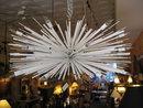 A designers original 24 light Metal Sculpture Chandelier