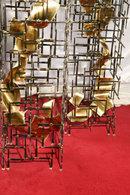 A pair of original one-of-a-kind sculptured pedestals by Blass