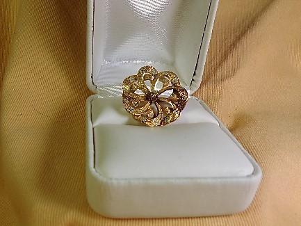 Victorian Diamond and Enamel Gold Brooch