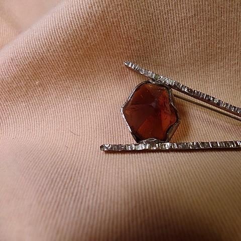 Amber Comet Brooch
