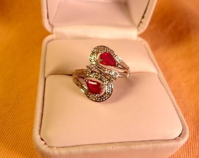 Ruby, Diamond 14Kt. Ring