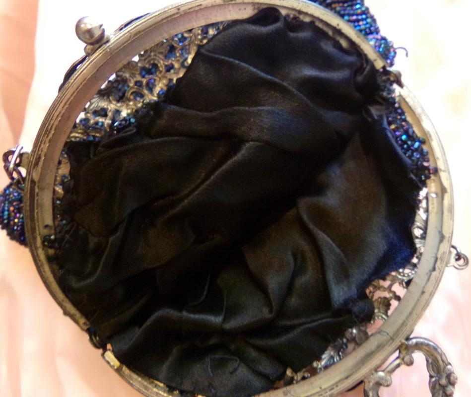 Antique ornate Floral frame purse