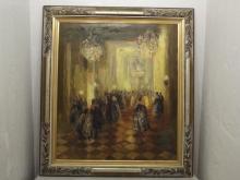 Ballroom Scene oil painting Begelo