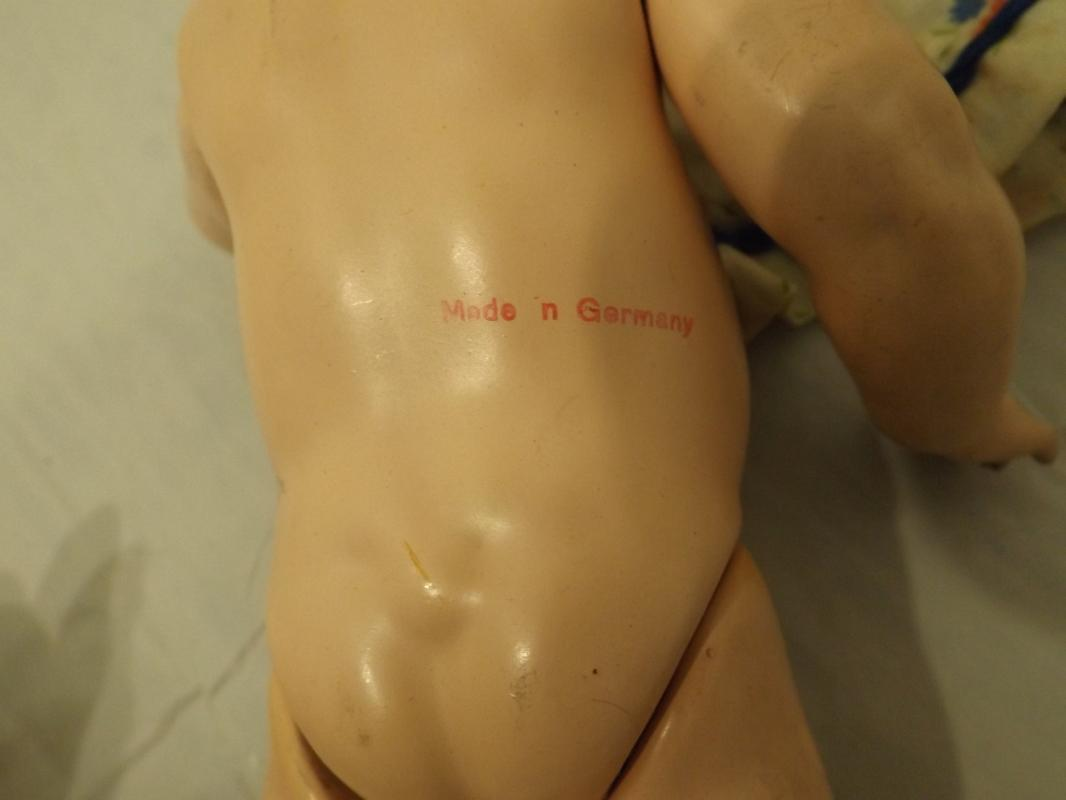 Bisque Doll S& H Baby mold Bisque Doll DR91 with back of head markings,