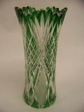 Green cut to clear Henry VIII vase