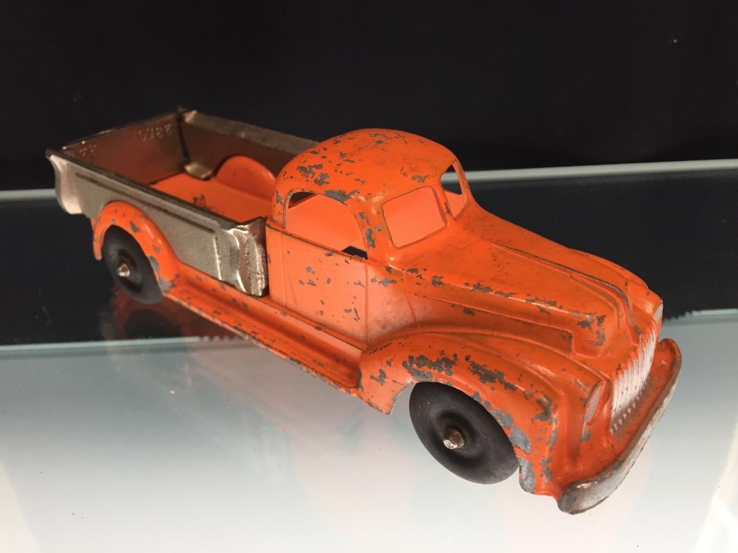 Hubley Kiddie Toy Orange Truck