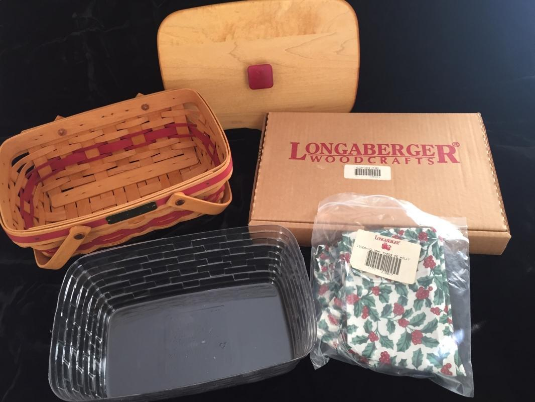 Longaberger 1996 Holiday Cheer Basket (Red)