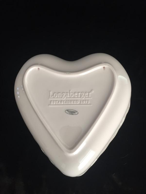 Longaberger 2004 Sweetest Heart Dish (Pink)