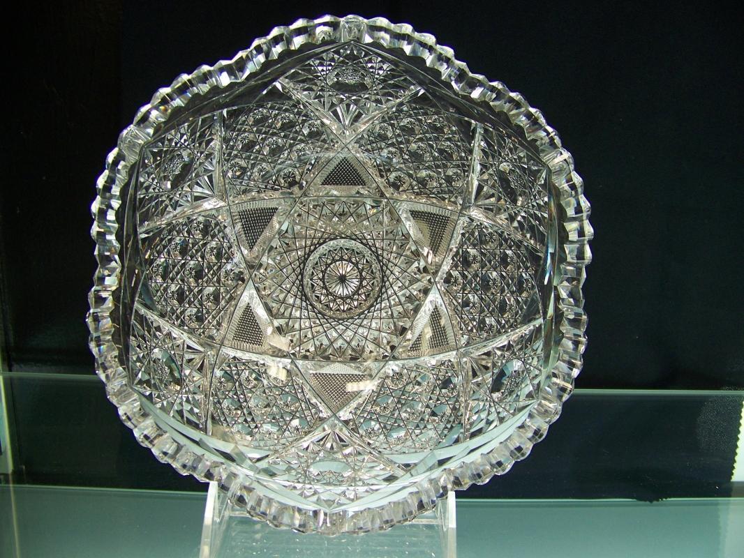 Clear Cut Glass Bowl