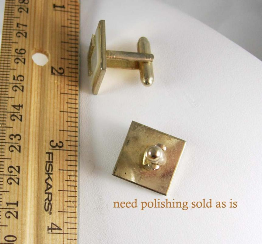 Letter Cuff links Vintage Initial L MOP Cufflinks Alphabet Letter Monogram Signet Shirt Accessory personalized jewelry