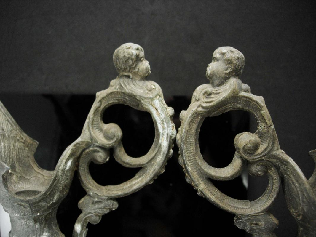 Antique Cherub urns - Victorian Pitchers - gothic silver - goddess urn - art nouveau medieval angels -