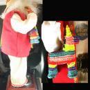 Mexican Santa Border Patrol with minitature pinata Spanish Christmas Decoration Vintage 16