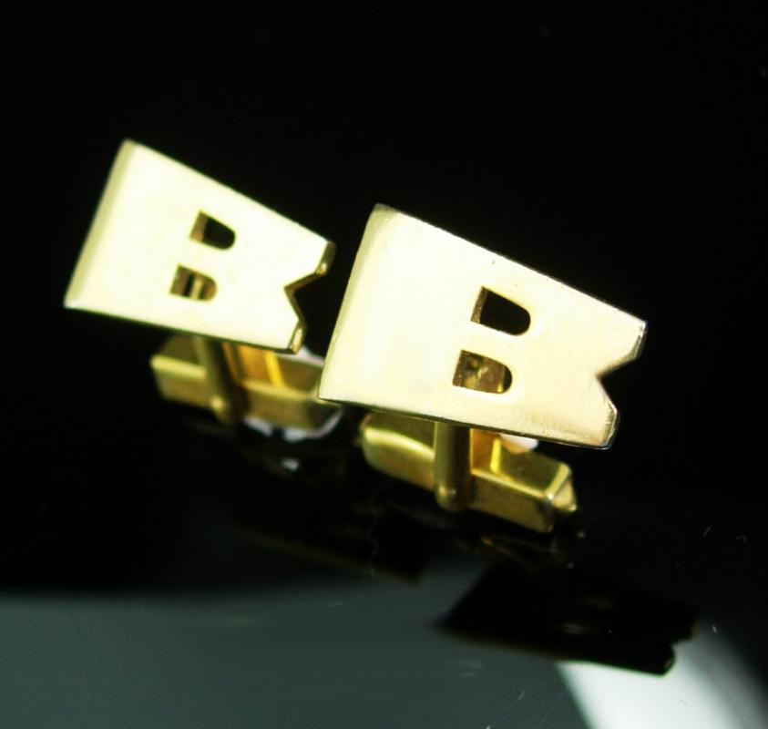 personalized cufflinks modern abstract letter gift wedding groom groomsman father of the bride businessman large initial b swank