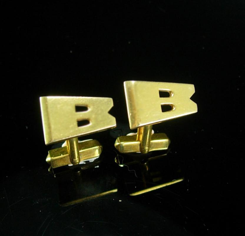 personalized cufflinks modern abstract letter gift wedding groom groomsman father of the bride businessman large initial