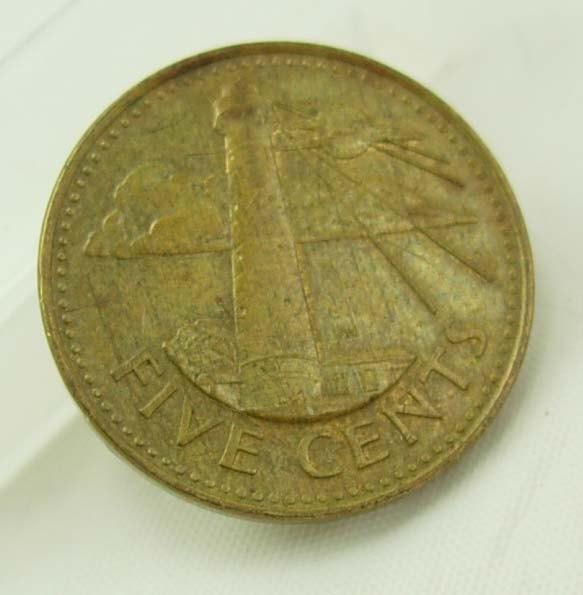 Vintage Barbados 1980 Coin Destash Five Cents  South Point Light House Collectors Birthday