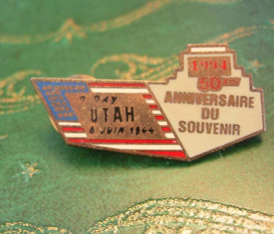 Military D Day WWII Lapel Pin Vintage Beach of UTAH Battle of  Normandy Epinglette with Duel Butterfly Clutch