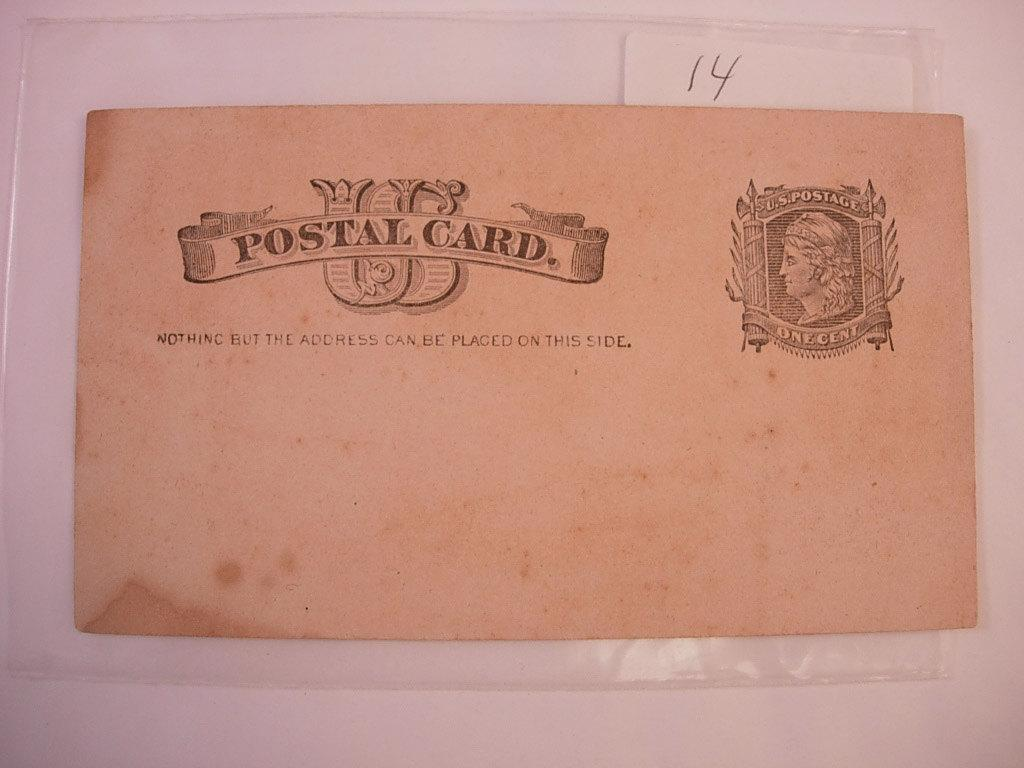 US Postal Card a Blank 1880s one cent postage postal history