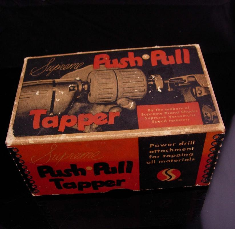Supreme Push Pull Tapper / vintage tool accessory / gift for him / machinist gift / original box
