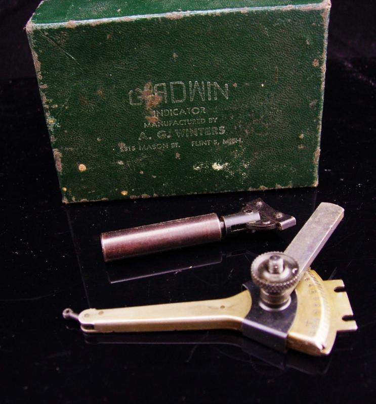 Vintage metal indicator / 1950's GLADWIN INDICATOR / original box & receipt / vintage tool accessory / gift for him / machinist gift