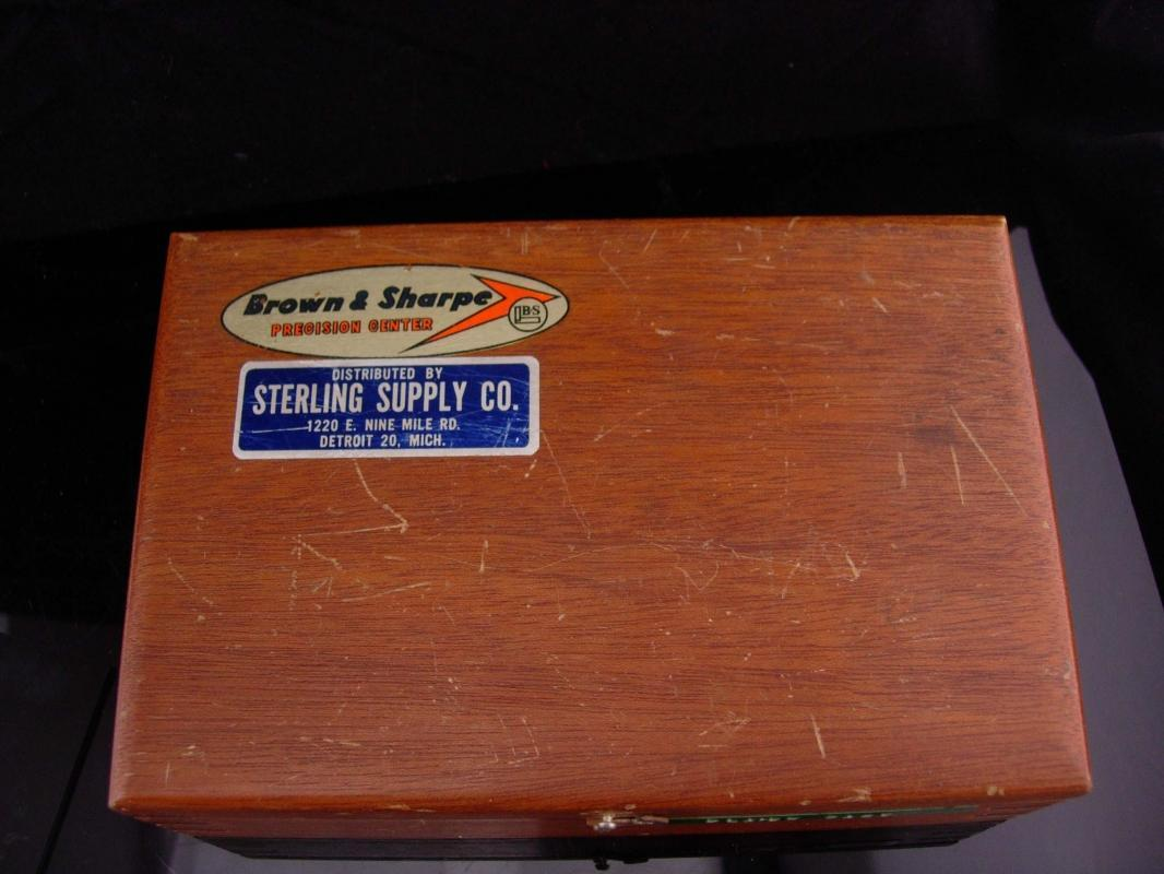 Vintage planer / original wood box / Browne & sharpe / sharpening tool / gift for him / machinist gauge / rams head products / stamp