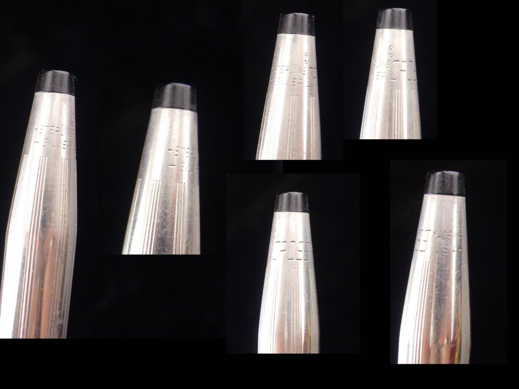 Vintage Cross set / Pen & Pencil / sterling silver set / made in USA / silver pencil / silver pen