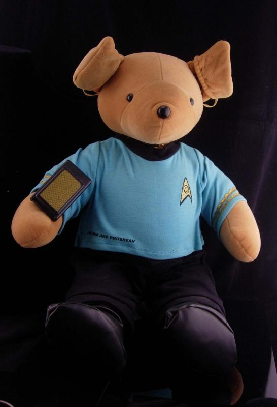 Vintage Teddy Bear / Halloween Costume / star Trek gift / Mr. Spock / North American Bear / Stuffed Animal / Vulcan gift