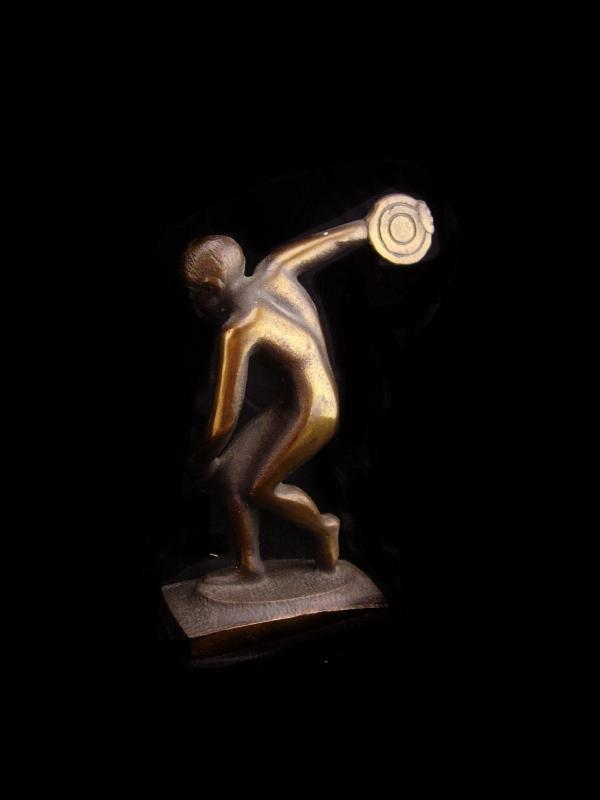 Ancient Greek Bronze Statue / vintage Discus Thrower of Myron / Olympics  sculpture / Chairish statue / Male athlete / gift for him