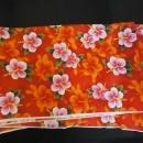 Vintage Fabric / hawaii flowers / polynesian textiles 4998 / Bright red / 8 yards / floral material / Hawaiian wedding