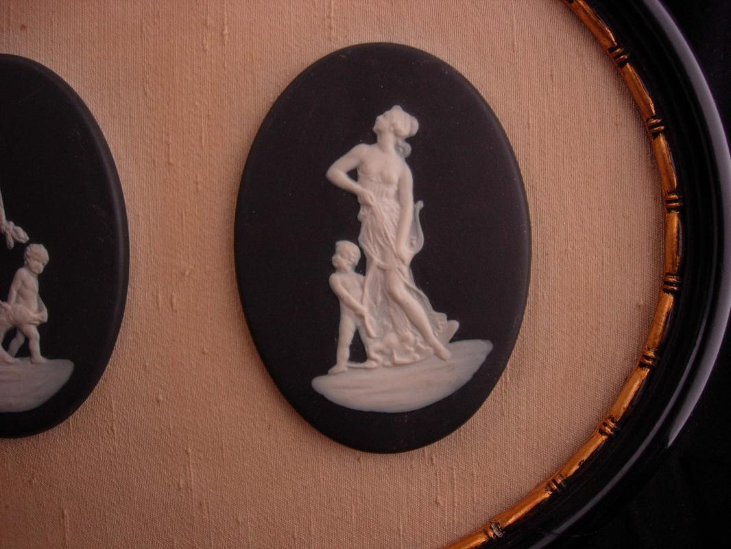 Antique Framed Victorian angels / wedgwood goddess plaques /  Mother Angel / Child Baby / Vintage Italian / mythical women / greek mythology