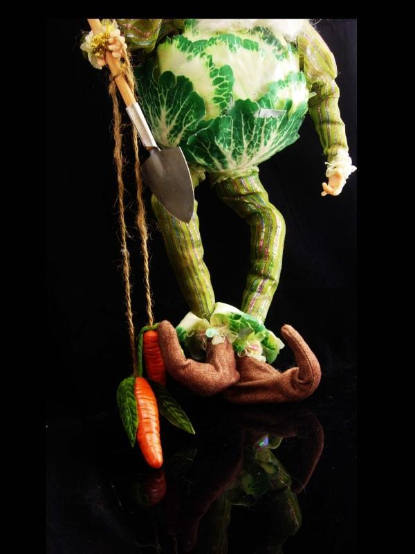 Large Vintage Mark Davis Fairy / Gardener gift / Gnome ornament / cabbage elf / chef gift / christmas gift / grandmother gift / shelf sitter
