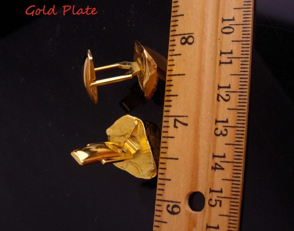 Gold Nugget cufflinks / designer Judy Lee / tuxedo set . Vintage Kaflinks / groom cuff links / Wedding Formal Wear / Fine Clothing Jewelry