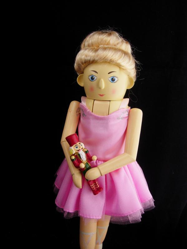 Ballerina nutcracker  / pink tutu  / christmas display / ballet dancer / Girls christmas gift / sparkling shoes / christmas decoration
