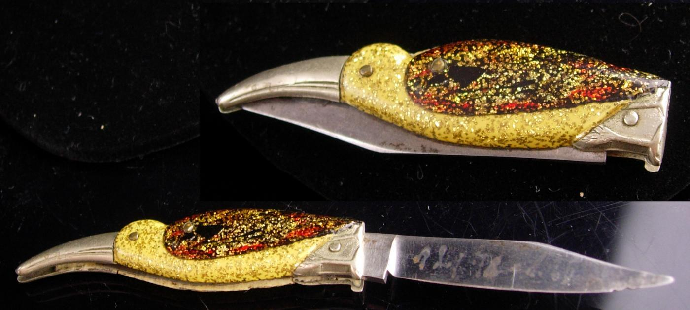 Ges Gesch FIGURAL BIRD / antique folding pocket knife