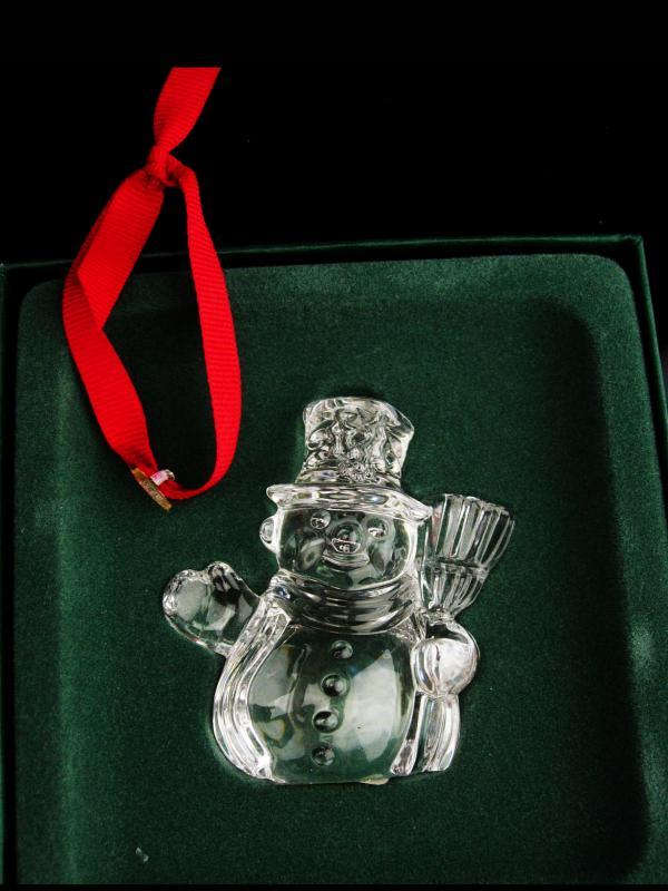 Waterford SNOWMAN ornament  / marquis Crystal  / Vintage German  christmas gift / grandmother gift /