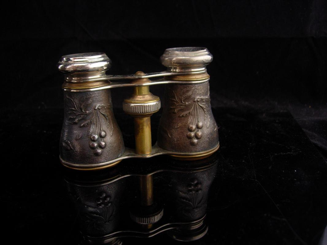 Antique French Opera glasses / bird watcher gift / victorian jumelles glasses / original pouch / Paris chevalier glasses / steampunk gift