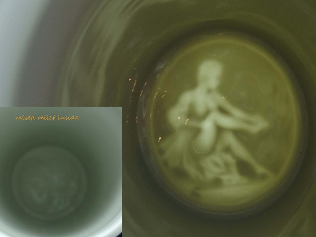 Vintage Nude Lithopane Stein / Imperial German WW1  Regimental / Pioneer Battalion / Sailor gift /  lidded stein 11 1/2